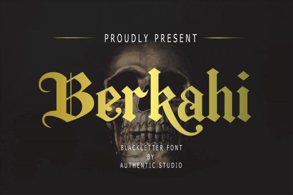 Print on Demand: Berkahi Blackletter Font By Authentic Studio