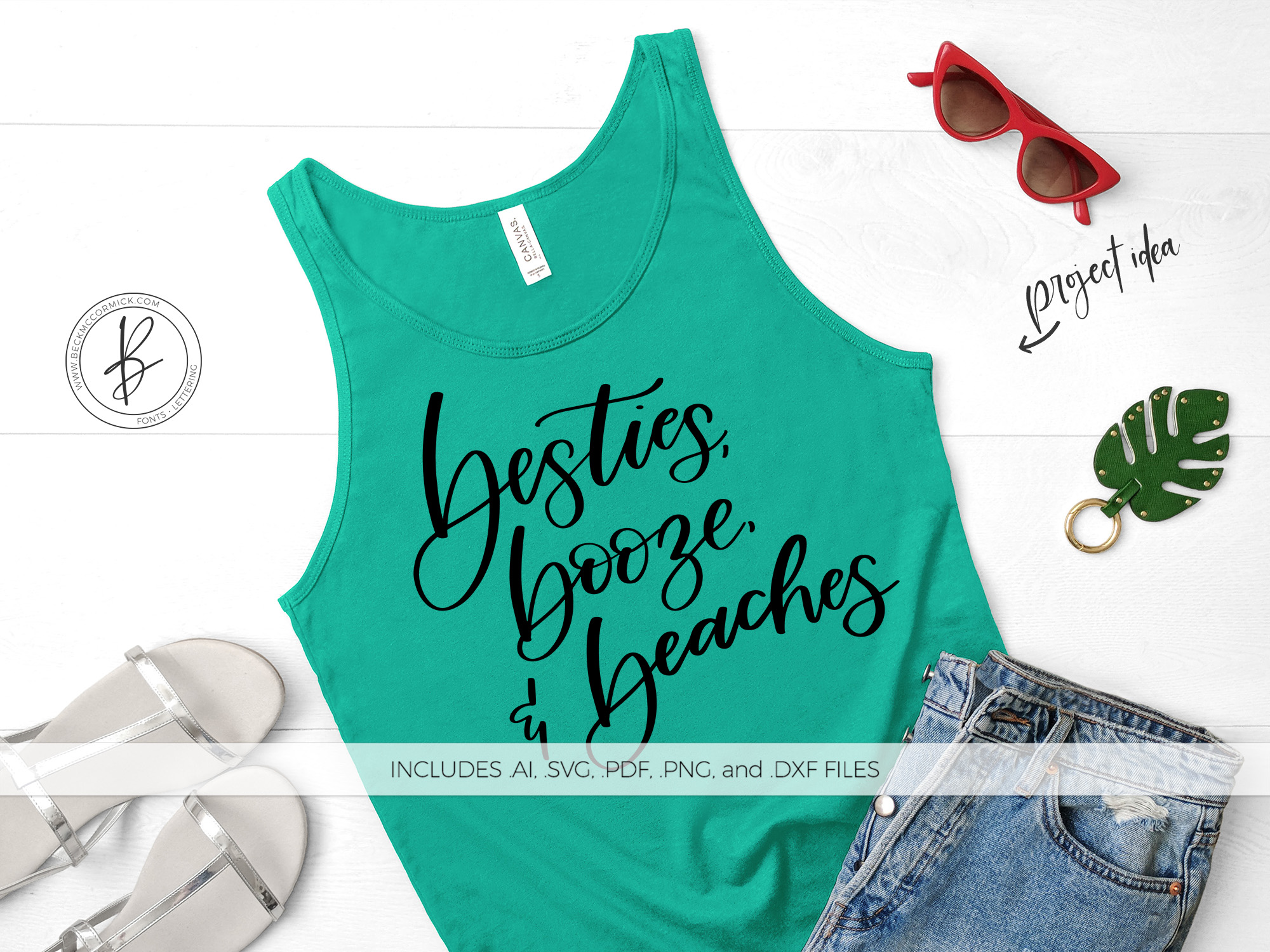 Download Free Besties Booze Beaches Graphic By Beckmccormick Creative Fabrica for Cricut Explore, Silhouette and other cutting machines.