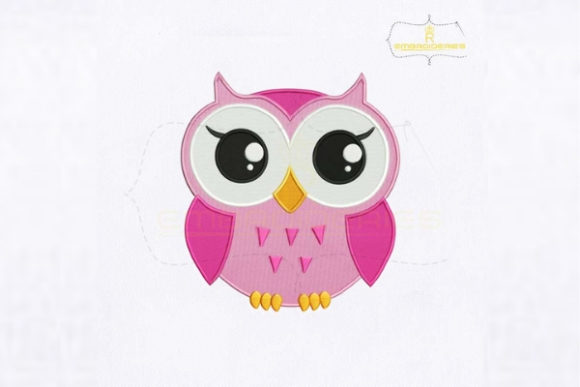 Big Eyes Baby Owl Baby Animals Embroidery Design By royalembroideries