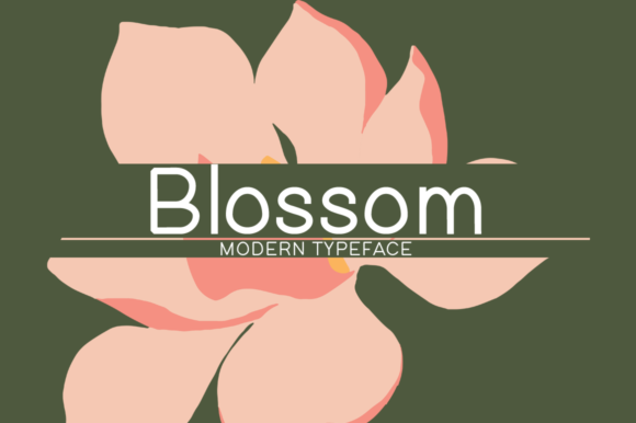 Print on Demand: Blossom Display Font By MSB