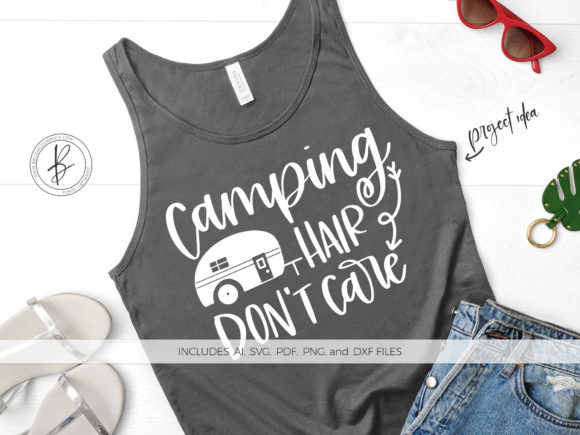 Print on Demand: Camping Hair Don't Care Graphic Crafts By BeckMcCormick - Image 1