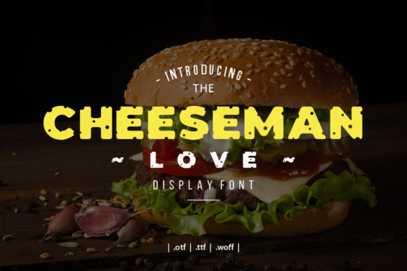 Print on Demand: Cheeseman Love Display Schriftarten von yantodesign