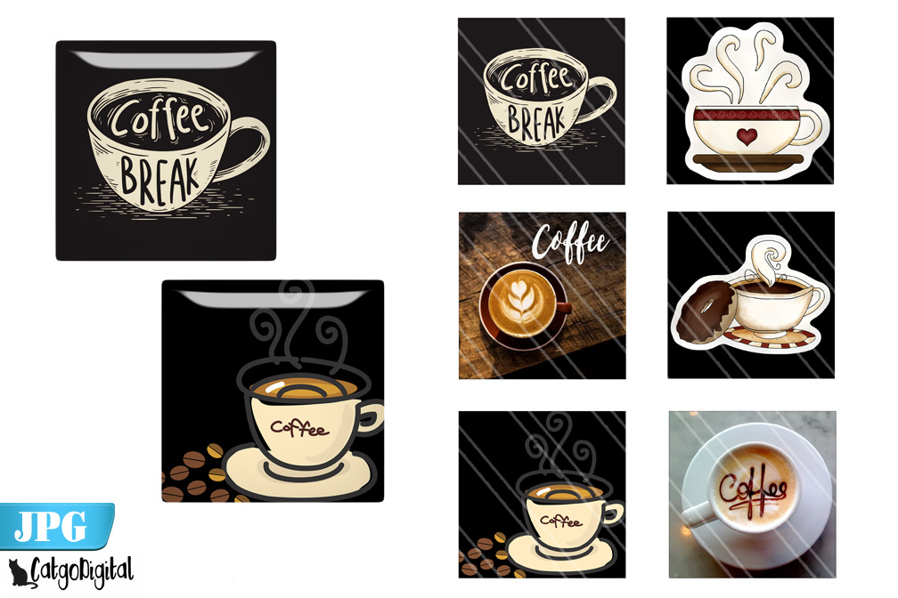 Download Free Coffee Square Digital Printable Images Graphic By Catgodigital SVG Cut Files