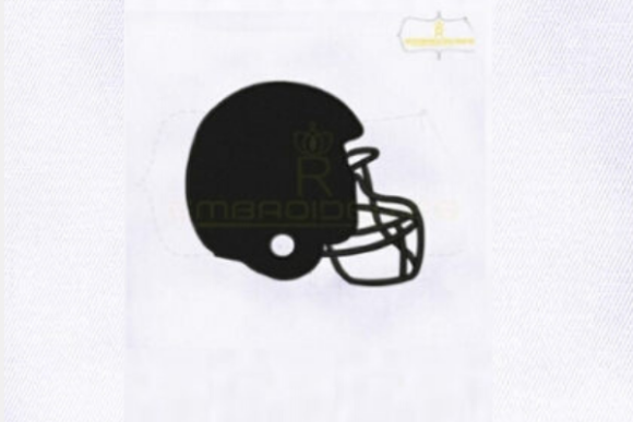 Black American Football Helmet Sports Embroidery Design By RoyalEmbroideries