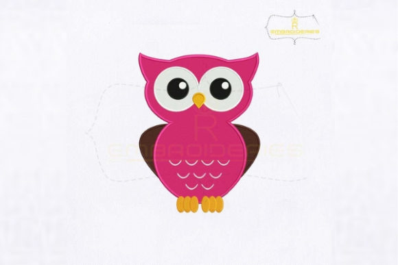 Cute Buhos Giggle Owl Birds Embroidery Design By RoyalEmbroideries