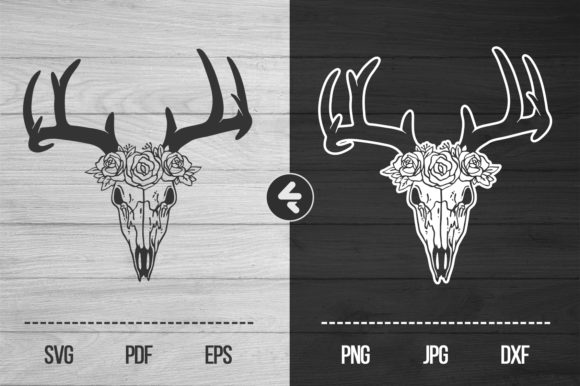 Download Free Deer Skull Graphic By Flocalliastore Creative Fabrica SVG Cut Files