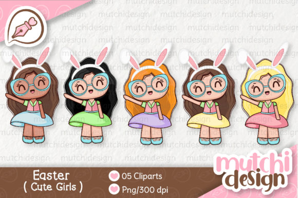 Print on Demand: Easter Girls Graphic Illustrations By Mutchi Design
