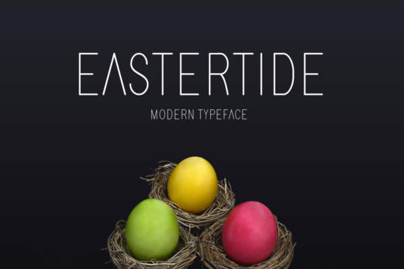 Print on Demand: Eastertide Display Font By MSB