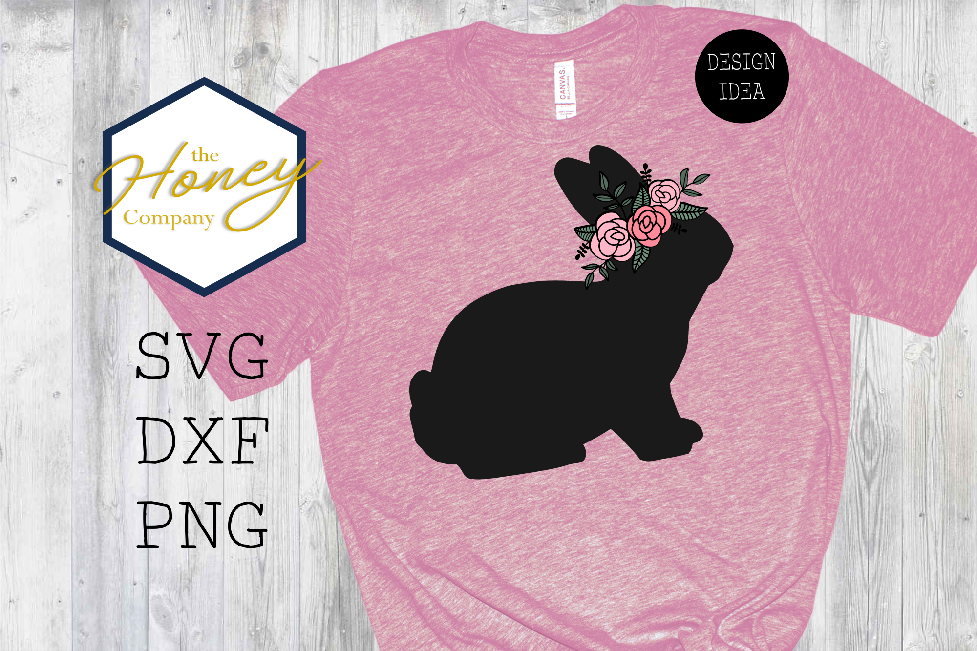 Download Free Flower Crown Easter Bunny Graphic By The Honey Company for Cricut Explore, Silhouette and other cutting machines.