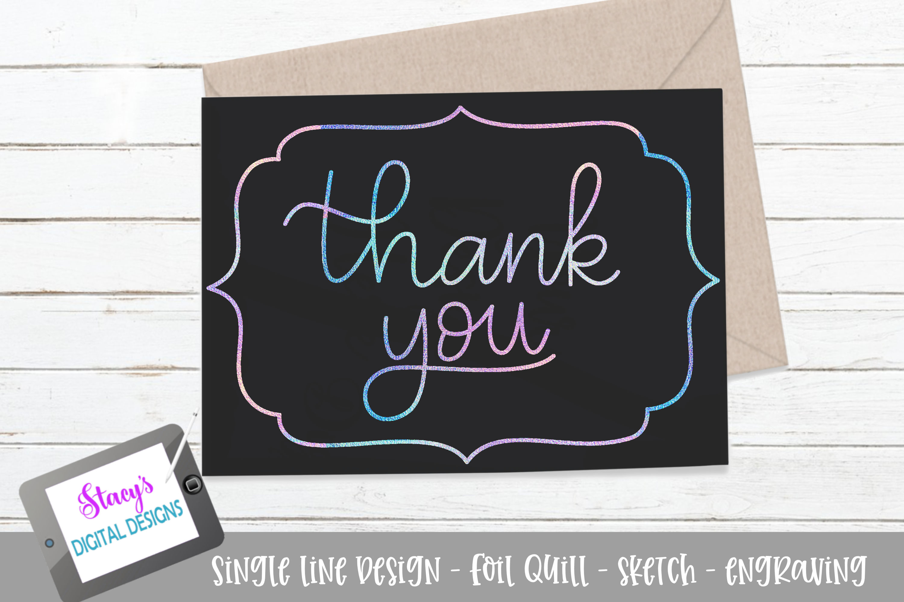 Foil Quill – Thank You SVG File