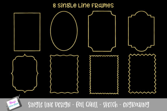 Foli Quill - Single Line Frame Bundle Graphic Crafts By stacysdigitaldesigns