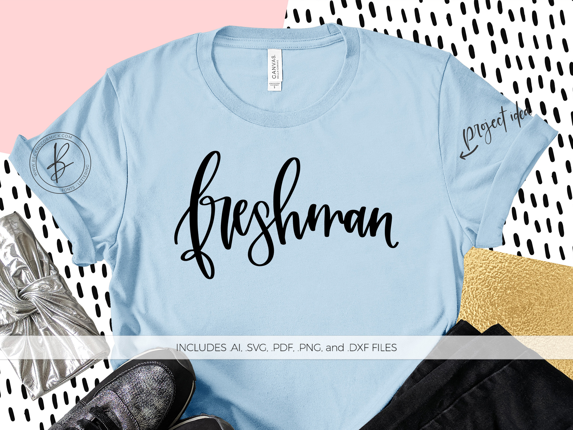 Download Free Freshman Graphic By Beckmccormick Creative Fabrica for Cricut Explore, Silhouette and other cutting machines.