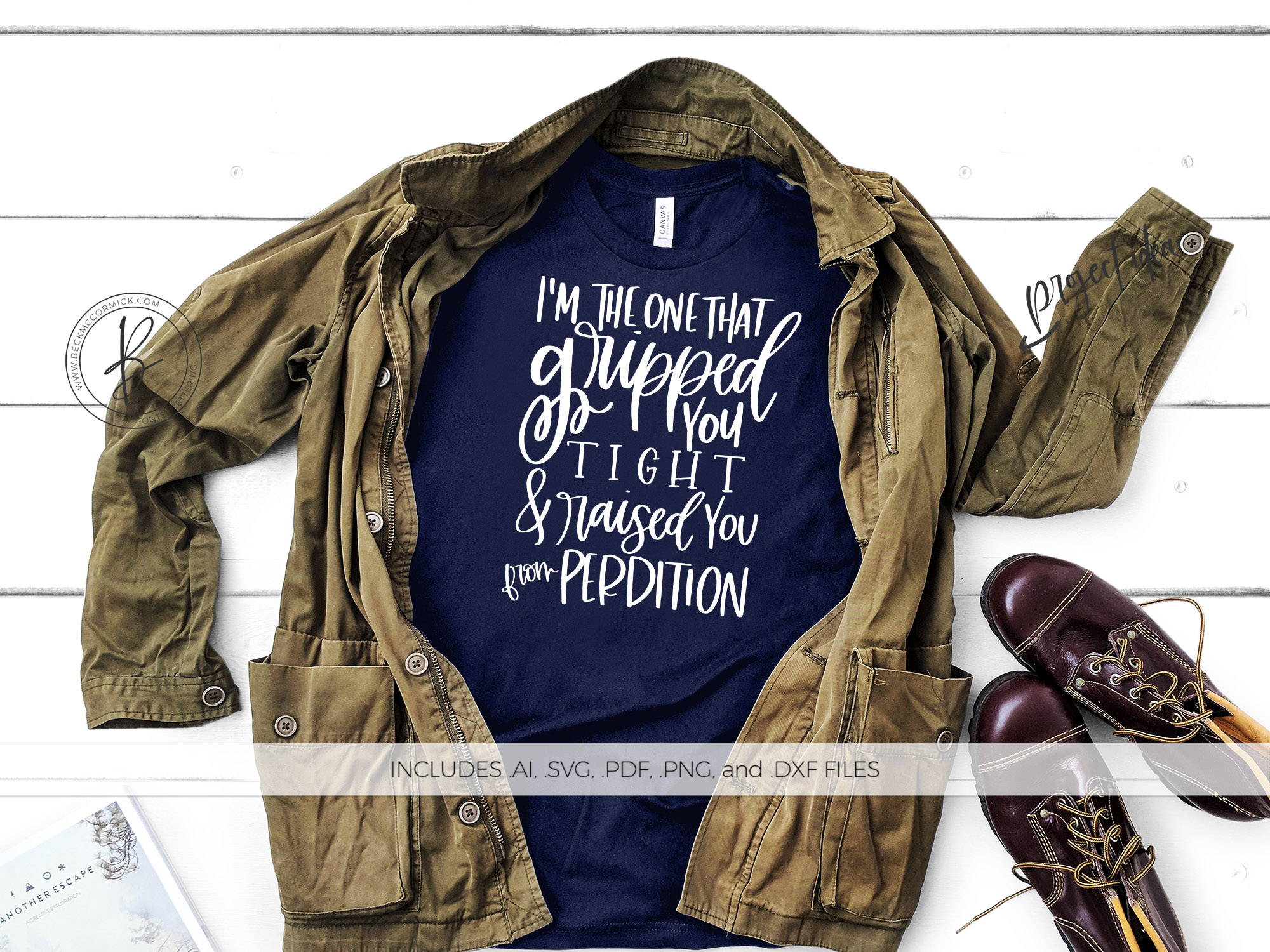 Download Free Gripped You Tight Supernatural Graphic By Beckmccormick for Cricut Explore, Silhouette and other cutting machines.
