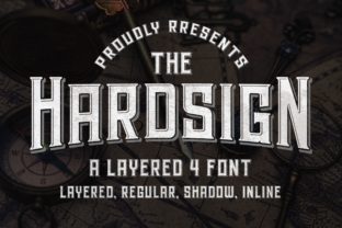 Print on Demand: Hardsign Display Font By Blankids Studio