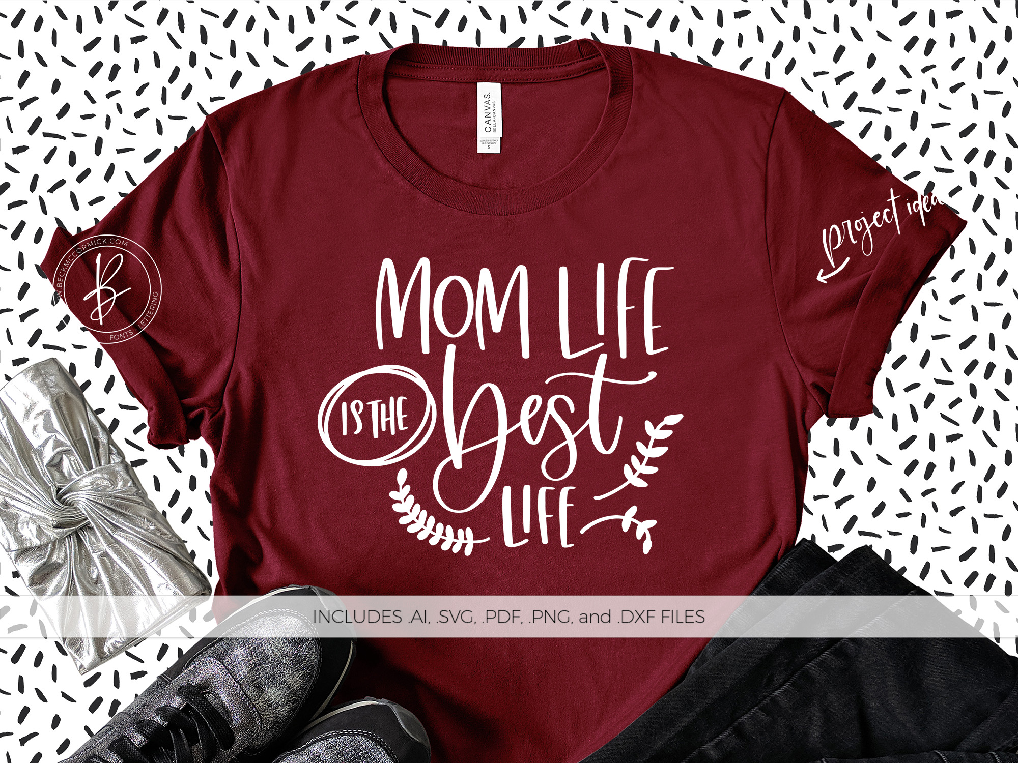 Download Free Mom Life Is The Best Life Grafico Por Beckmccormick Creative for Cricut Explore, Silhouette and other cutting machines.