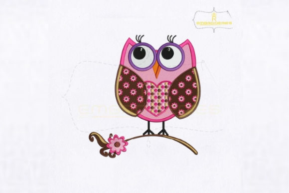 Pretty Graduation Owl Birds Embroidery Design By RoyalEmbroideries - Image 1