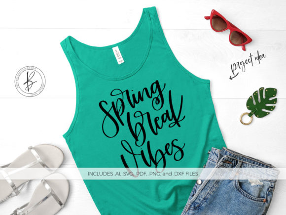 Download Free Spring Break Vibes Graphic By Beckmccormick Creative Fabrica for Cricut Explore, Silhouette and other cutting machines.