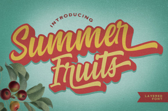 Print on Demand: Summer Fruits Script & Handwritten Font By Mas Anis