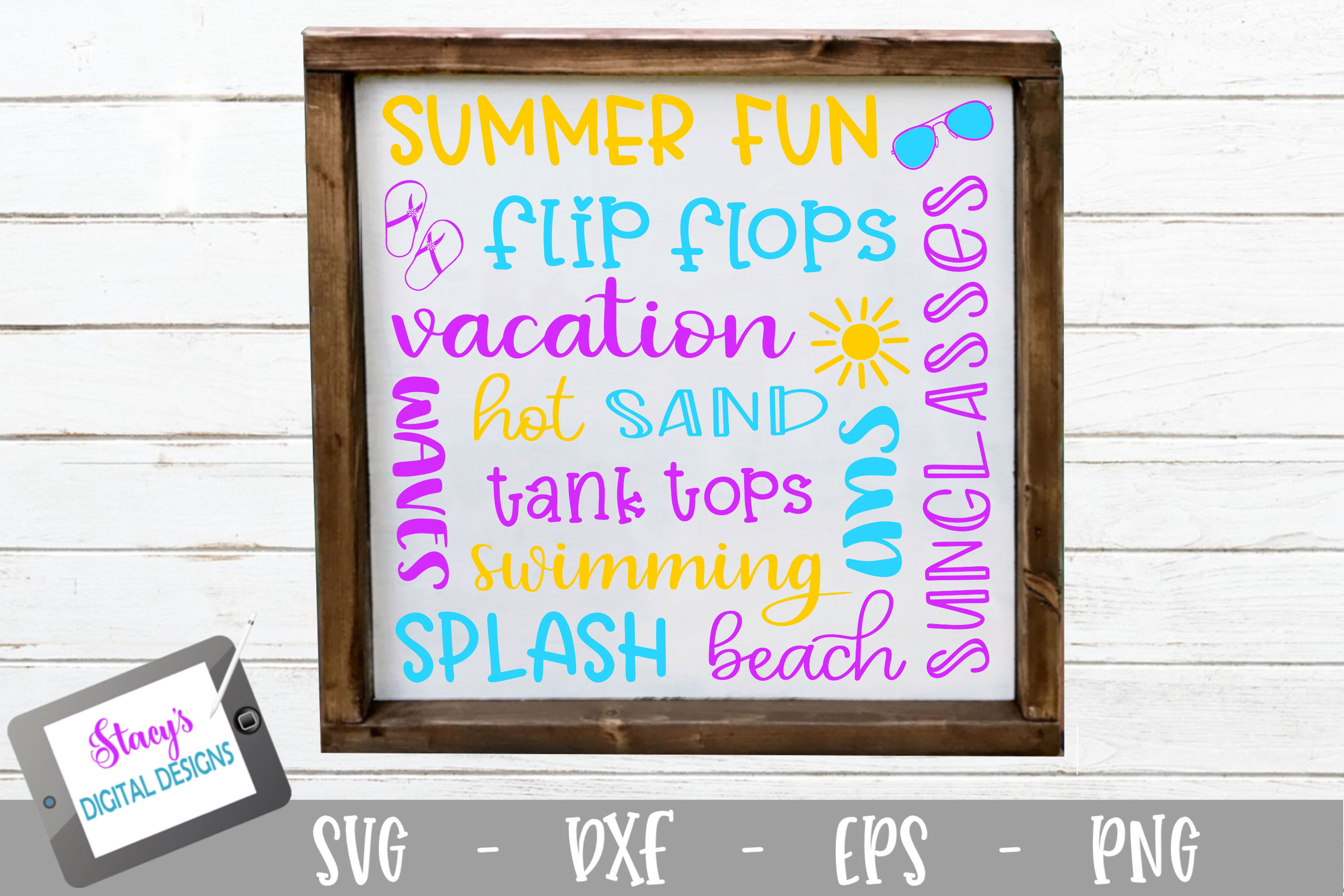 Download Free Summer Subway Art Graphic By Stacysdigitaldesigns Creative Fabrica for Cricut Explore, Silhouette and other cutting machines.