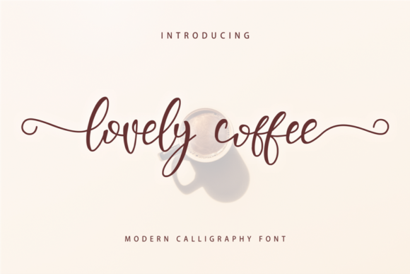 Print on Demand: Lovely Coffee Script & Handwritten Font By arukidz.fl