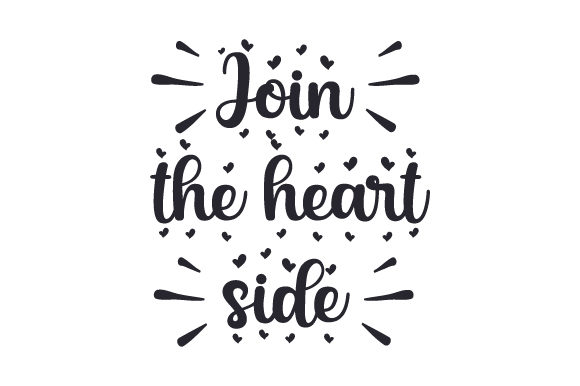 Download Free Join The Heart Side Svg Cut File By Creative Fabrica Crafts for Cricut Explore, Silhouette and other cutting machines.
