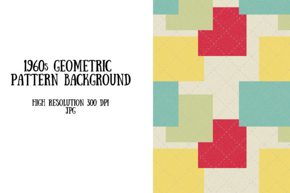 1960s Style Pattern Graphic Backgrounds By My Little Black Heart