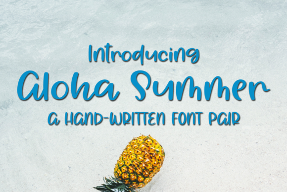 Print on Demand: Aloha Summer Script & Handwritten Font By Ursa Bratina
