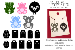 Animal Earring and Display Card Designs Graphic Crafts By Digital Gems