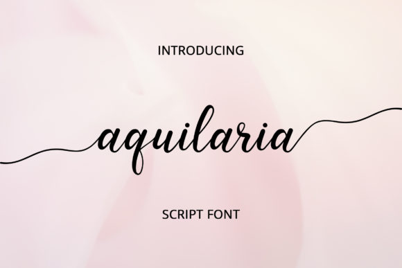 Print on Demand: Aquilaria Script & Handwritten Font By practype - Image 1