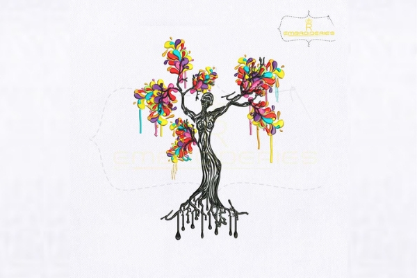 Download Free Artistic Woman Tree Creative Fabrica for Cricut Explore, Silhouette and other cutting machines.