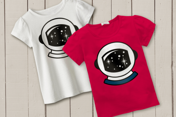 Astronaut Helmet Space Graphic Crafts By DesignedByGeeks
