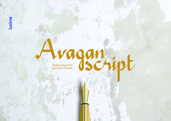 Print on Demand: Avagan Script & Handwritten Font By Luxima Creative