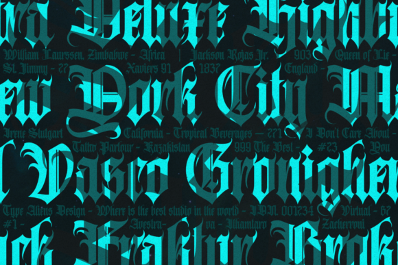 Print on Demand: Avestrava Tattoo Blackletter Font By ilhamtaro - Image 6