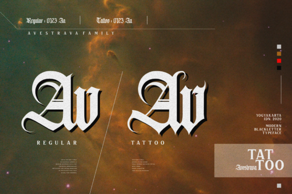 Print on Demand: Avestrava Tattoo Blackletter Font By ilhamtaro - Image 7