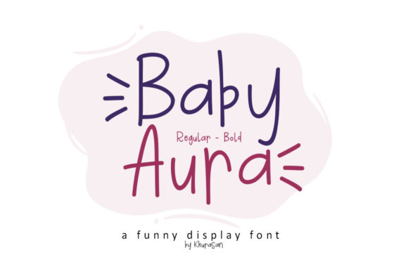 Print on Demand: Baby Aura Display Font By Khurasan
