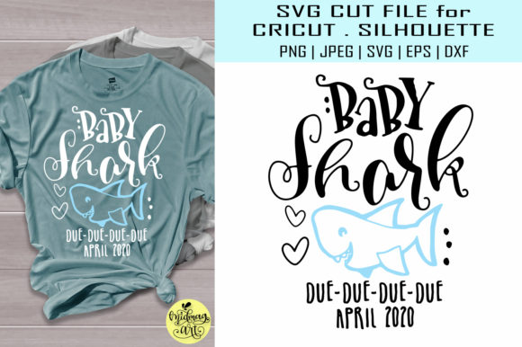 Download Free Baby Shark Due April Graphic By Midmagart Creative Fabrica for Cricut Explore, Silhouette and other cutting machines.