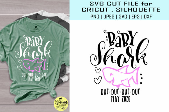 Download Free Baby Shark Due May Graphic By Midmagart Creative Fabrica SVG Cut Files