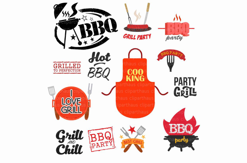 Download Free Barbeque Clipart Vector Graphic Graphic By Svg Den Creative for Cricut Explore, Silhouette and other cutting machines.