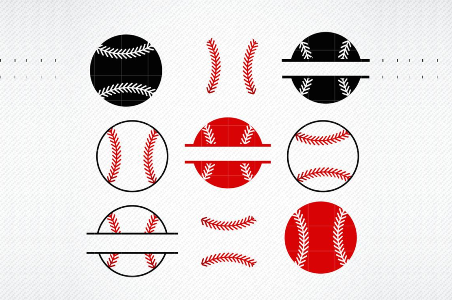 Baseball Split Monogram Graphic By Svg Den Creative Fabrica