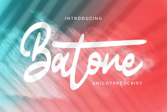 Print on Demand: Batone Script & Handwritten Font By Vunira