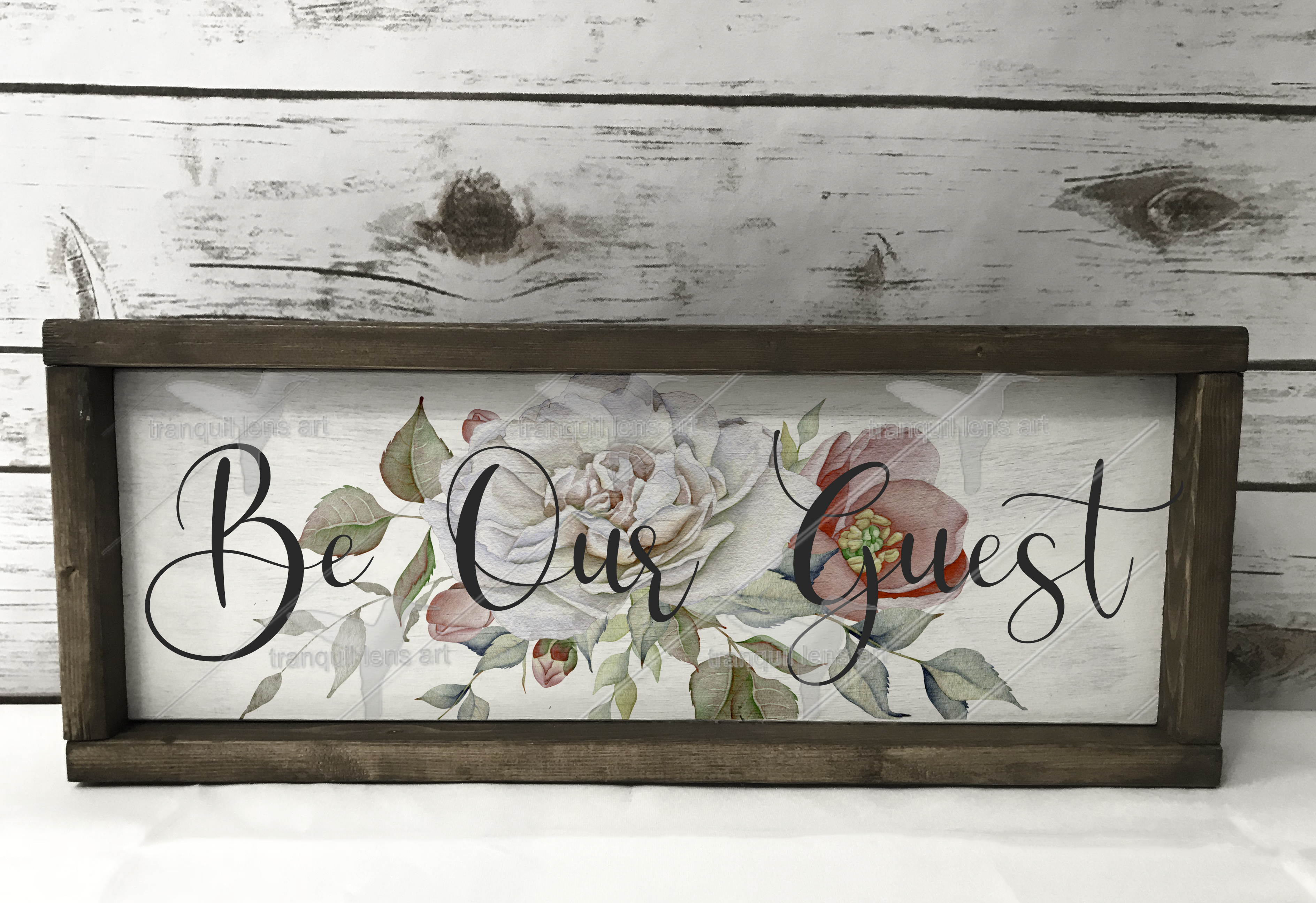 Download Free Be Our Guest Printable Art Graphic By Tranquil Lens Art for Cricut Explore, Silhouette and other cutting machines.