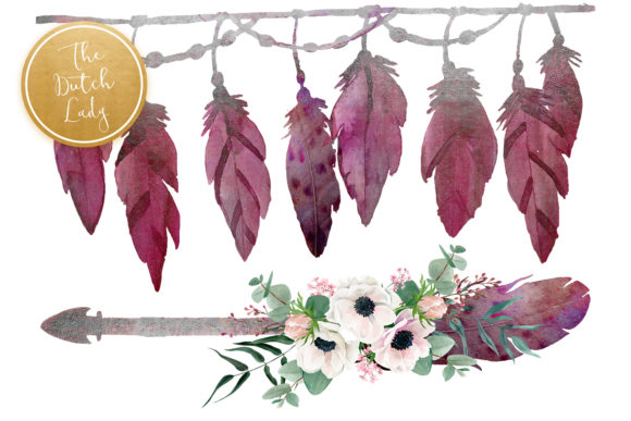 Print on Demand: Beautiful Bohemian Clipart Set Graphic Illustrations By daphnepopuliers - Image 5
