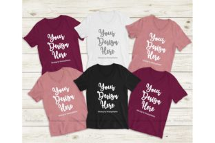 Print on Demand: Bella Canvas 3005 Family Tee Mockup Graphic Product Mockups By Mockup Station