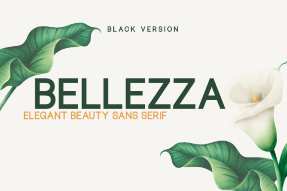Print on Demand: Bellezza Black Sans Serif Font By Huntype