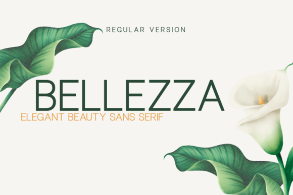 Print on Demand: Bellezza Sans Serif Font By Huntype