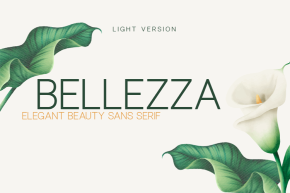 Print on Demand: Bellezza Light Sans Serif Font By Huntype