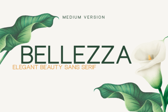 Print on Demand: Bellezza Medium Sans Serif Font By Huntype