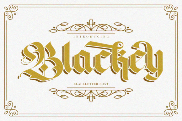 Print on Demand: Blackey Display Font By Maulana Creative