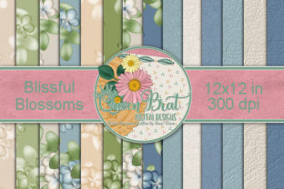Blissful Blossoms Backgrounds Graphic Backgrounds By QueenBrat Digital Designs