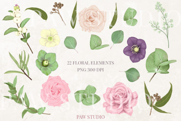 Print on Demand: Boho Collection Floral Decorations Graphic Illustrations By PawStudio - Image 2